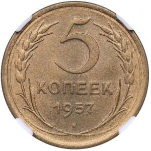 Russia - USSR 5 kopeks 1957 - HHP MS64