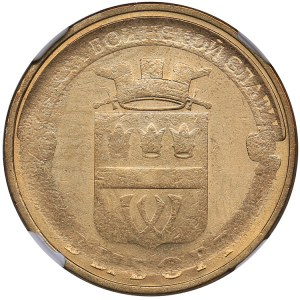 Russia 10 roubles 2014 - Vyborg - NGC MINT ERROR