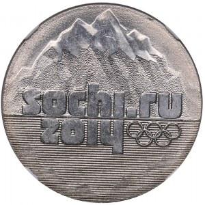 Russia 25 roubles 2014 - Sochi Olympics - NGC MINT ERROR MS 65