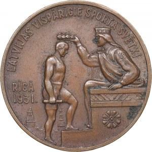 Latvia medal festival of general sports 1931