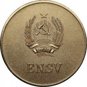Russia - USSR medal Estonian school graduate gold medal 1960