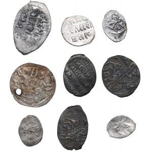 Russia silver Wire coins (9)