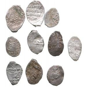 Russia silver Wire coins (10)