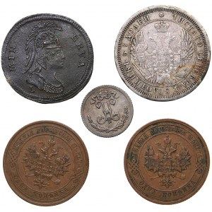 Coins of Russia and jeton Minerva (5)
