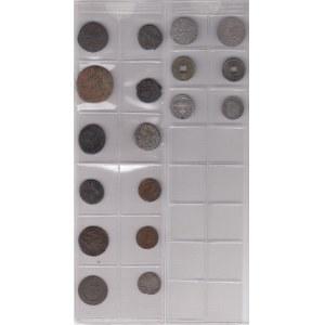Coins of Russia, Roman Empire, Poland, Livonia, China, France, Bolivia (18)