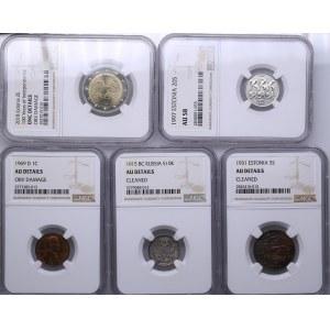 Coins of Russia, Estonia, USA (12)