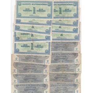 Austria 1 & 2 shillings 1944 (9+9 pcs)