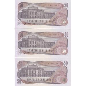 Austria 50 shillings 1970 (3 pcs)