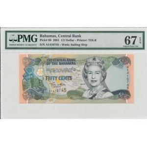 Bahamas 1/2 dollars 2001 - PMG 67 EPQ
