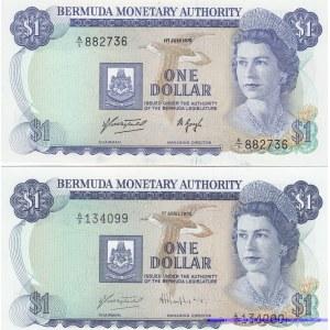 Bermuda 1 dollar 1975 & 1978