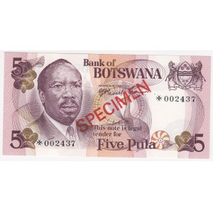 Botswana 5 pula 1979 - Specimen