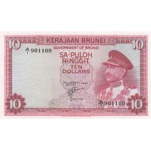 Brunei 10 ringgit 1967
