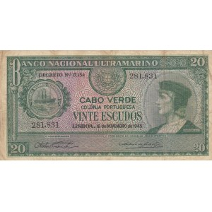 Cape Verde 20 escudos 1945