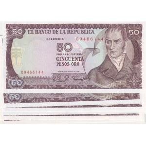 Colombia 50 pesos 1981 (10 pcs)