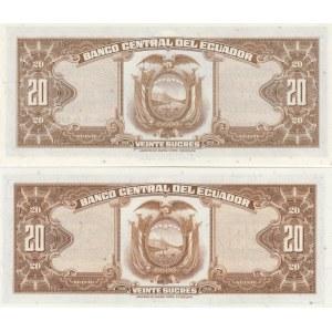 Ecuador 20 sucres 1966 & 1969