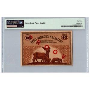 Estonia 10 marka 1919 - SPECIMEN - PMG 53 EPQ