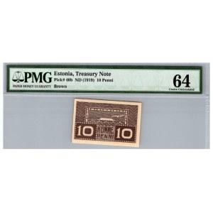 Estonia 10 penni 1919 - PMG 64