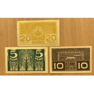 Estonia 20, 10, 5 penni 1919 (3)