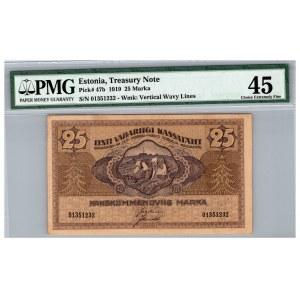Estonia 25 marka 1919 - PMG 45