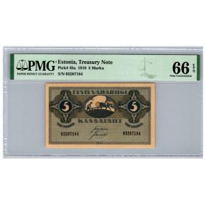 Estonia 5 marka 1919 - PMG 66 EPQ