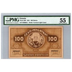 Estonia 100 marka 1921 - PMG 55
