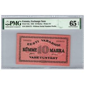 Estonia 10 marka 1922 - PMG 65 EPQ