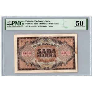 Estonia 100 marka 1922 - PMG 50