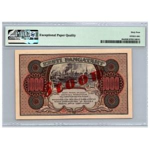 Estonia 1000 marka 1922 - PMG 64 EPQ - SPECIMEN