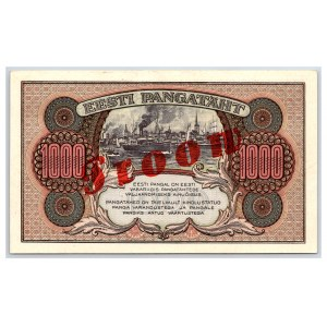 Estonia 1000 marka 1922 D - SPECIMEN