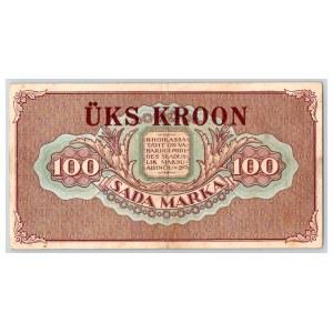 Estonia 1 kroon on 100 marka 1923 (1928)