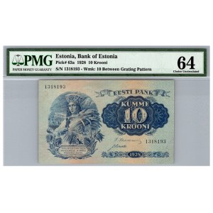 Estonia 10 krooni 1928 - PMG 64