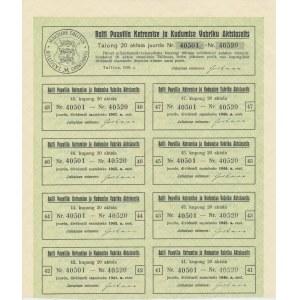 Estonia Balti Puuvilla 20 aktsiat 1000 krooni 1928