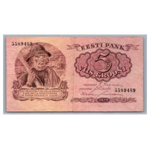 Estonia 5 krooni 1929