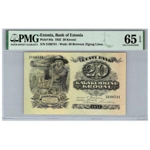 Estonia 20 krooni 1932 - PMG 65 EPQ