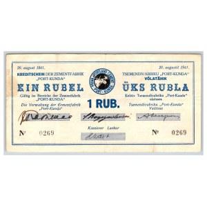 Estonia - Kunda 1 roubles 1941
