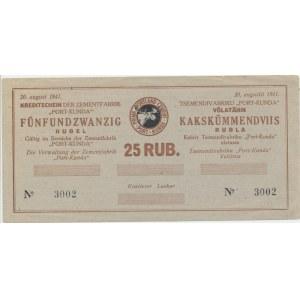 Estonia - Kunda 25 roubles 1941 - PROOF