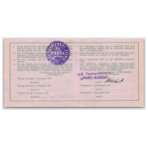 Estonia - Kunda 3 roubles 1941