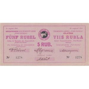 Estonia - Kunda 5 roubles 1941