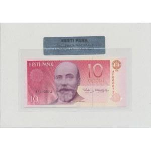 Estonia 10 kroons 1991 - AF 000072. Small serial number