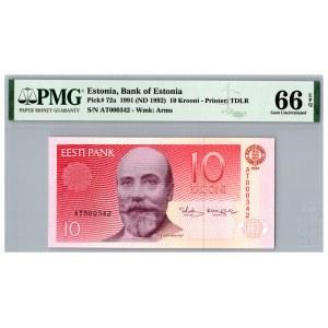 Estonia 10 krooni 1991 - PMG 66 EPQ