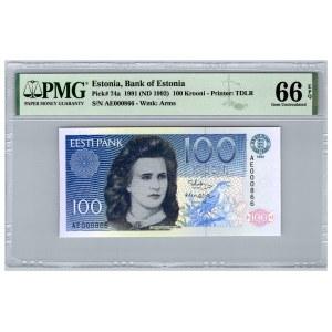Estonia 100 krooni 1991 - PMG 66 EPQ