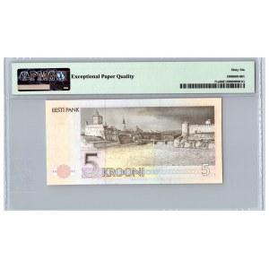 Estonia 5 krooni 1991 - PMG 66 EPQ