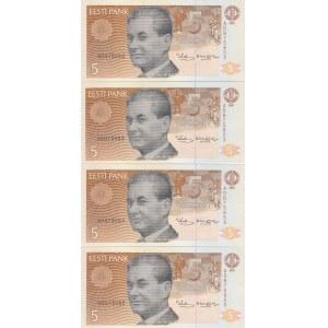 Estonia 5 krooni 1991 (4 pcs)