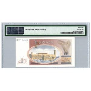Estonia 1 kroon 1992 - PMG 64 EPQ