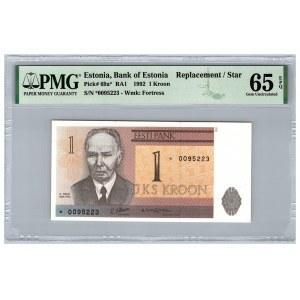 Estonia 1 kroon 1992 - PMG 65 EPQ
