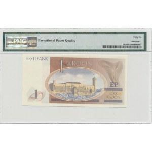 Estonia 1 kroon 1992 - PMG 66 EPQ - ERROR without serial number