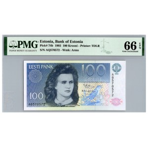 Estonia 100 krooni 1992 - PMG 66 EPQ