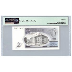 Estonia 2 krooni 1992 - PMG 63 EPQ