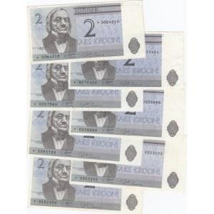 Estonia 2 krooni 1992 replacement 7 pcs
