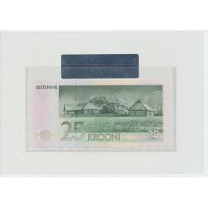 Estonia 25 krooni 1992 – BF 000047. Small serial number